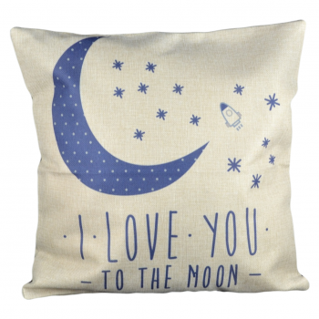 "Capa de Almofada ""I love you to the moon and back"""