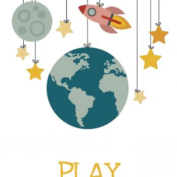 "Póster ""Space Play"""