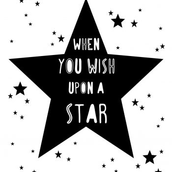 "Póster ""When you wish upon a star"""