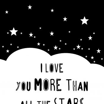 "Póster ""I Love You More Than All The Stars"""