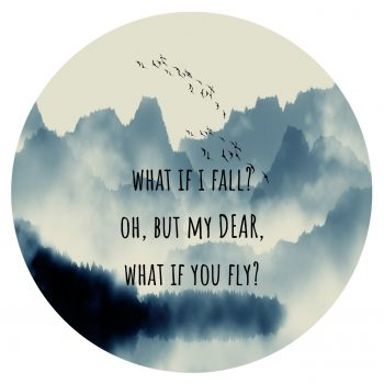 "Póster ""What if i fall?"""
